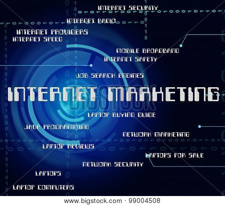 Internet Marketing Means World Wide Web And Advertising