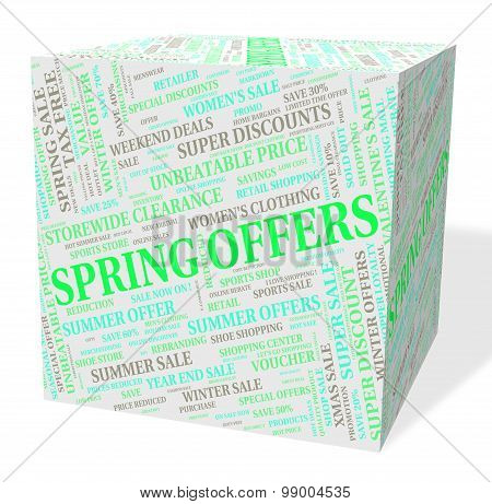 Spring Offers Indicates Discount Season And Promotional