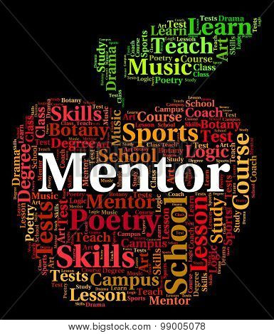 Mentor Word Represents Text Counsellors And Confidants