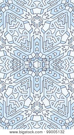 Seamless Abstract Pattern. Hand Drawn Texture, Christmas Background, Snowflake, Vector Illustration