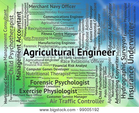 Agricultural Engineer Shows Career Farming And Hiring