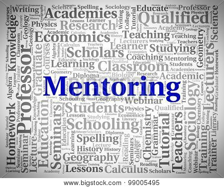 Mentoring Word Shows Confidant Consultant And Words