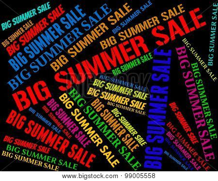 Big Summer Sale Shows Hot Weather And Bargains