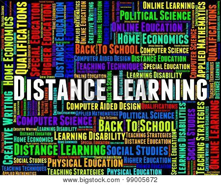 Distance Learning Words Represents Correspondence Course And Development