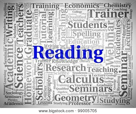 Reading Word Represents Look Through And Peruses