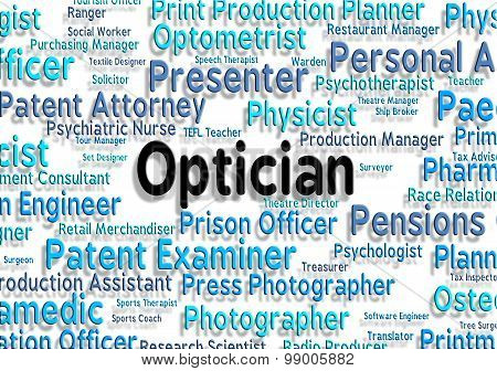 Optician Job Indicates Recruitment Eyes And Opticians