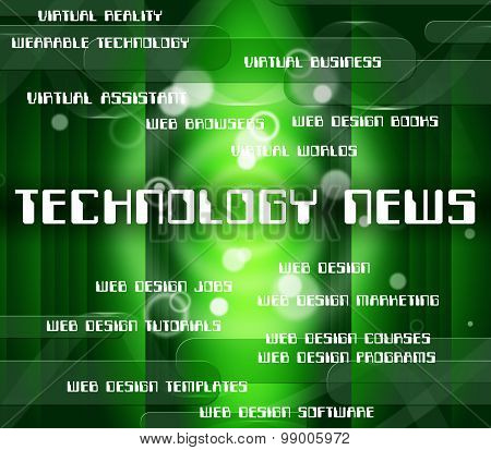 Technology News Represents Newsletter Word And Data