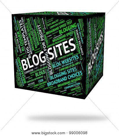Blog Sites Shows Domains Blogger And Hosting