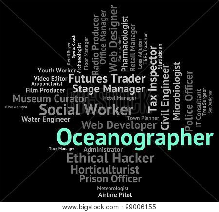 Oceanographer Job Shows Experts Hire And Work
