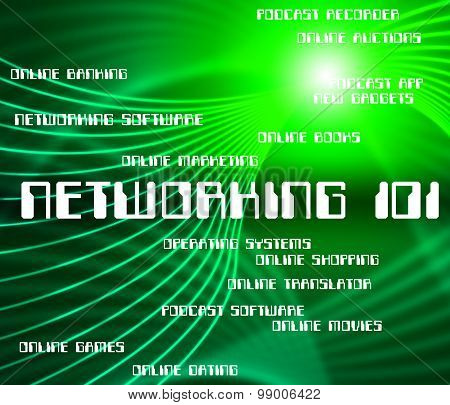 Word Networking Represents Global Communications And Communicate