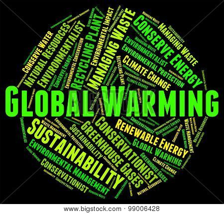 Global Warming Means World Text And Planet