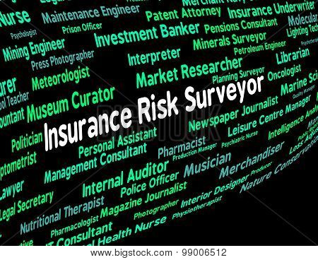 Insurance Risk Surveyor Indicates Unsafe Work And Word