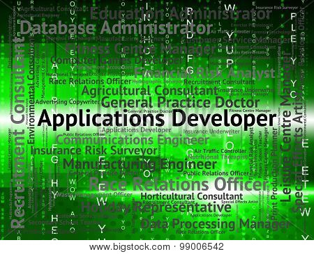 Applications Developer Shows Program Recruitment And Employee