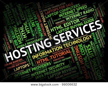 Hosting Services Shows Help Desk And Assistance