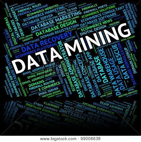 Data Mining Shows Mines Word And Mined