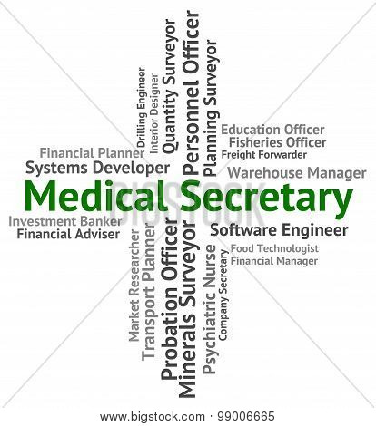 Medical Secretary Shows Personal Assistant And Administrator