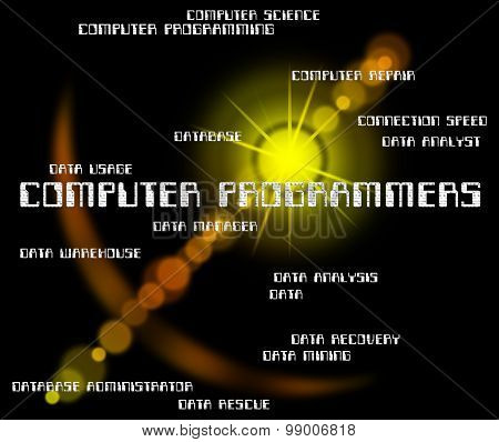 Computer Programmers Represents Software Engineer And Communication