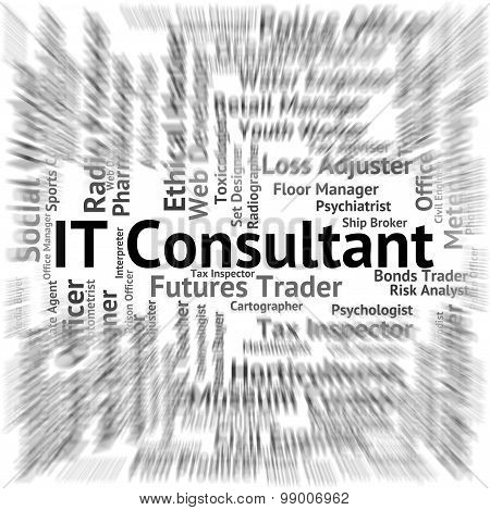 It Consultant Means Information Technology And Advisers