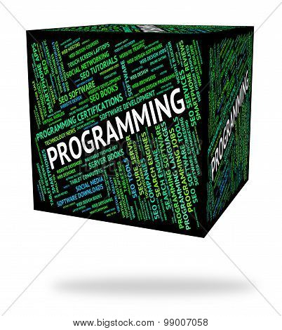 Programming Word Indicates Software Development And System