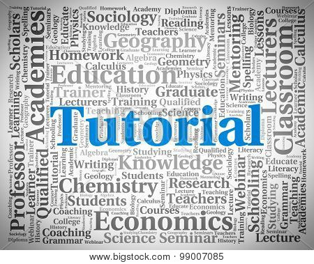 Tutorial Word Indicates Online Tutorials And College
