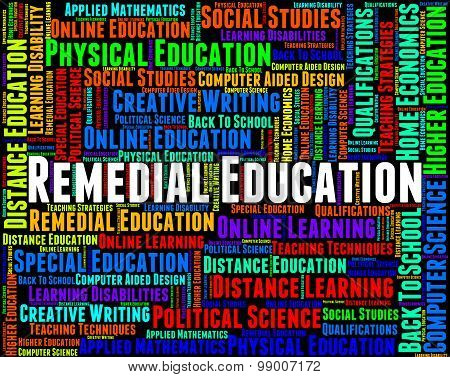Remedial Education Indicates Rectifying Train And Develop