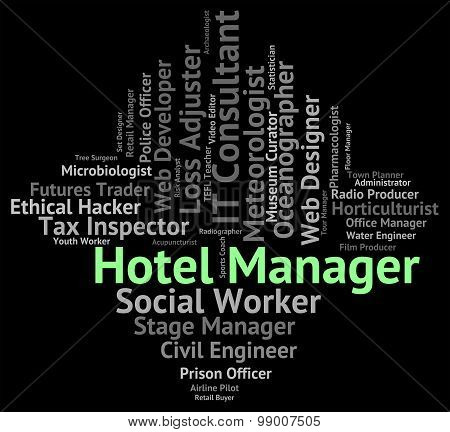 Hotel Manager Means Check In And Career