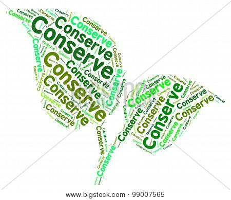 Conserve Word Means Protecting Protect And Sustainable