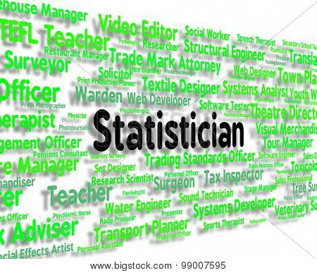 Statistician Job Means Stats Hiring And Analysis