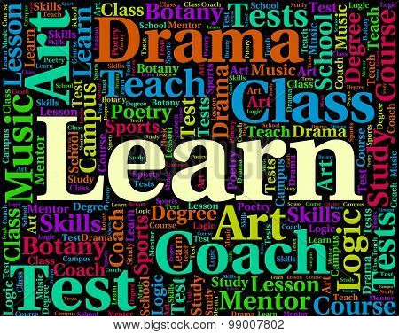 Learn Word Shows Learned Educated And Schooling
