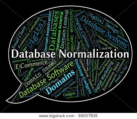 Database Normalization Represents Computing Standardise And Normalise