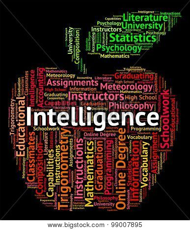 Intelligence Word Represents Intellectual Capacity And Ability