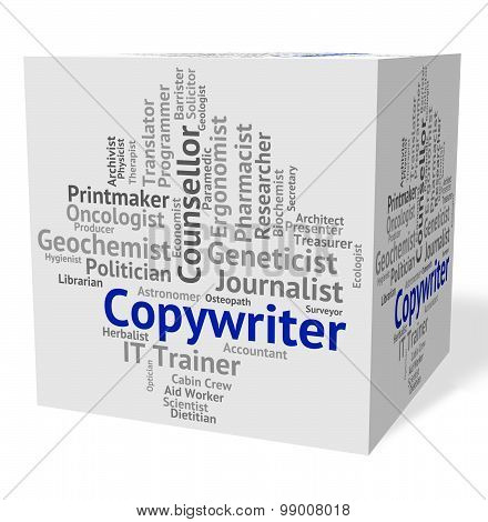 Copywriter Job Shows Ads Advert And Occupation