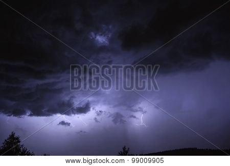 Night Storm And Lightning
