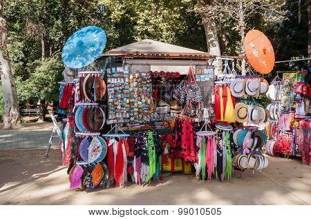 Souvenir Stall In Seville