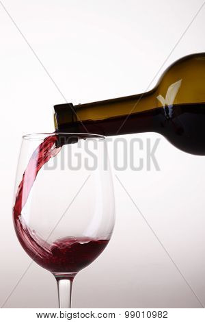 Pouring Wine From Bottle