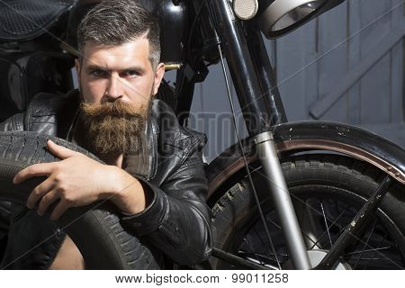 Handsome Man With Wheel
