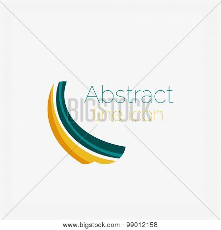Abstract symmetric geometric shapes, business icon.  icon