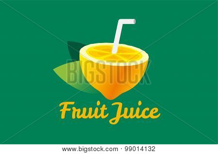 Lime or lemon fruit slice. Lemonade juice logo icon template design