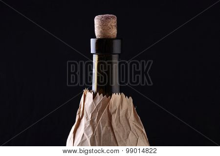 Wine Bottle In Paper Packet