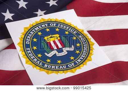 Department Of Justice With Us Flag
