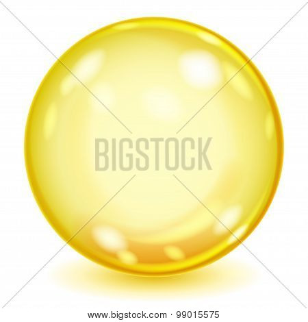 Big Yellow Opaque Glass Sphere
