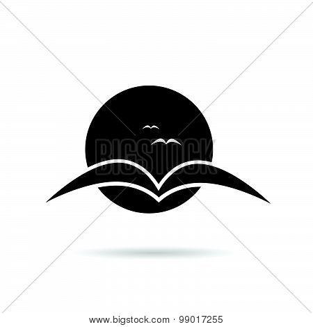 Swallow Bird On A Moonlight Vector