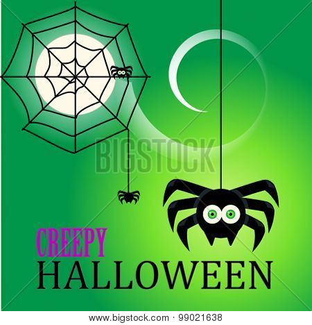 Halloween vector party poster, scary collection.