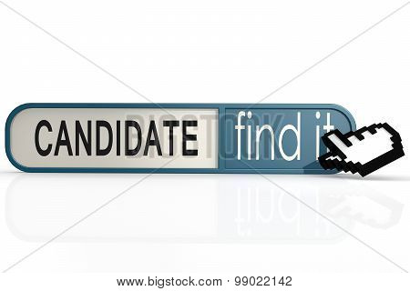 Candidate Word On The Blue Find It Banner