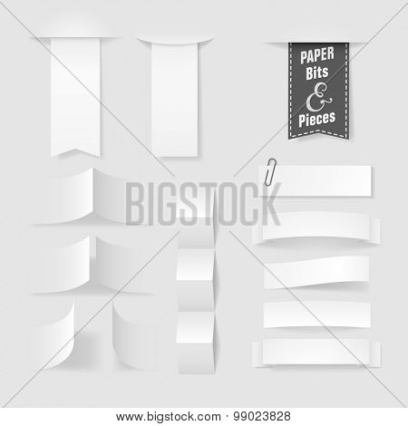 Folded paper with copy space for a message, eps10 vector