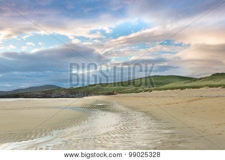 View on Horgabost beach on the Isle of Harris, Outer Hebrides, Scotland