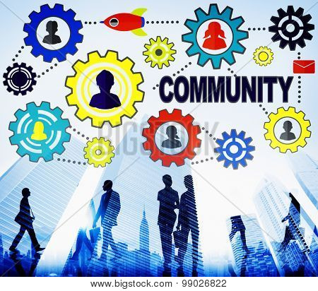 Community Connection Society Social Media Social Network Concept