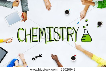 Group of Business People Chemistry Discussion Project Concept