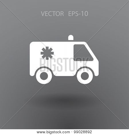 Flat  icon of ambulance