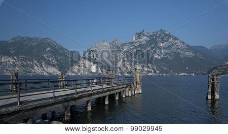 Lake Garda. View of the mountain